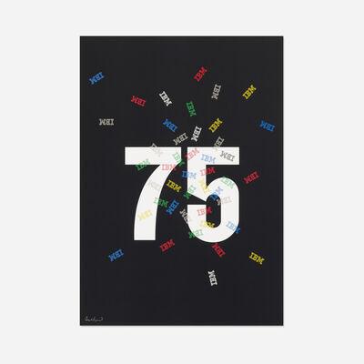 Paul Rand, 'IBM 75 poster', 1989