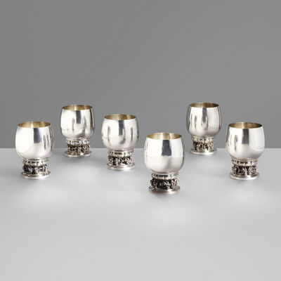 Georg Jensen, 'Wine goblets no. 296C, set of six', 1926