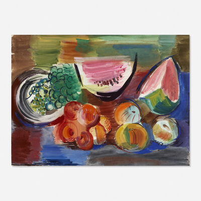 Vaclav Vytlacil, 'Untitled (still life with peaches and watermelon)', 1961