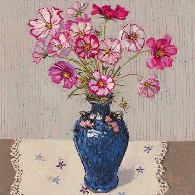 Lucy Culliton, 'Cosmos, blue vase', 2018