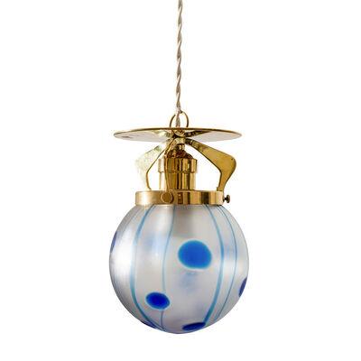 Loetz, 'Viennese Hanging Lamp ca. 1902 Loetz shade Streifen und Flecken', ca. 1902