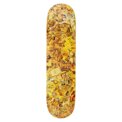 Vik Muniz, 'Eight Color Spectrum Yellow Skateboard Deck', 2019