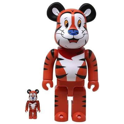 BE@RBRICK, 'TONY THE TIGER 100% + 400% SET (ORANGE)', 2019