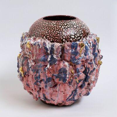King Houndekpinkou, 'Vase Cavilux – Rose / violet', 2017