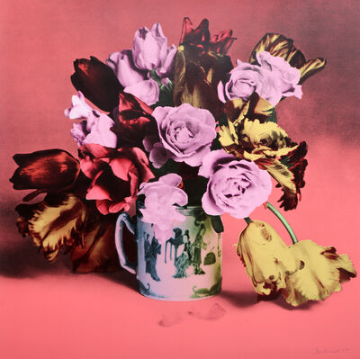 Francesco Scavullo, 'Roses and Tulips in Chinese Mug (Salmon)', 1985