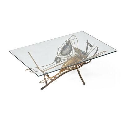 Henri Fernandez, 'Illuminating sculptural coffee table, France', 1970s