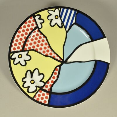 Roy Lichtenstein, 'Flowers Plate', 1990