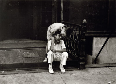 Helen Levitt, 'New York (one boy consoling another)', ca. 1945