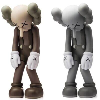KAWS, 'KAWS Small Lie set of 2 Brown and Grey (KAWS Companion set)', 2017
