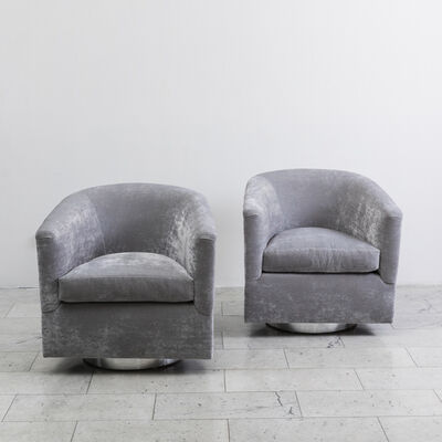 Milo Baughman, 'Grey Swivel Chairs', ca. 1970