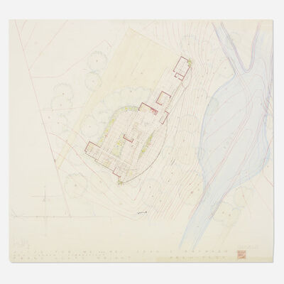 Frank Lloyd Wright, 'Plan for the John L. Rayward House, New Canaan, Connecticut', 1955