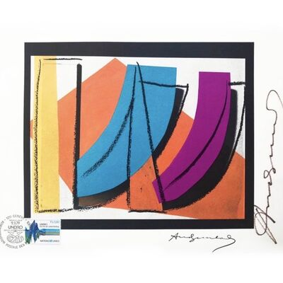 """Andy Warhol, 'Legendary Lithograph on Rives paper, hand signed by Andy Warhol """"U.N. Stamp""""', 1979"""