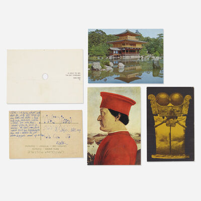 James Lee Byars, 'collection of five postcards mailed to Tommy Longo', c. 1975