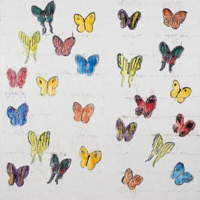 Hunt Slonem, 'White Butterflies', 2019
