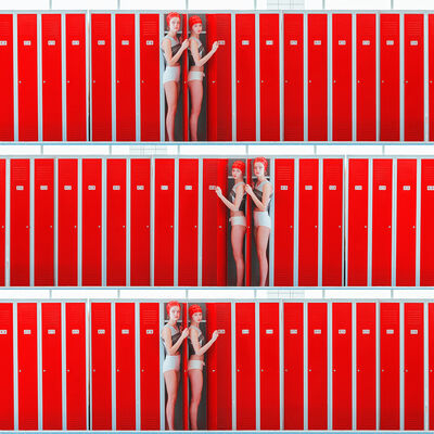 Maria Svarbova, 'Triple Locker (Cervena)', 2017