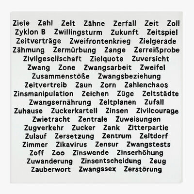 Käthe Kruse, 'Wörter Z 1', 2020