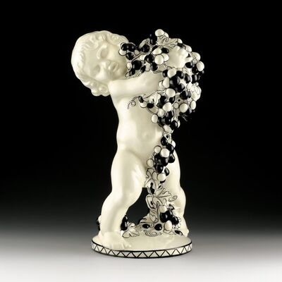 Michael Powolny, 'Putto with Grapes (Autumn)', Design around 1907-Manufactured until 1912