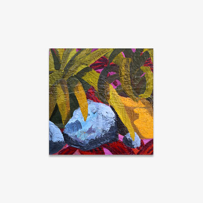 Anna Valdez, 'Three Rocks with Two Plants ', 2019