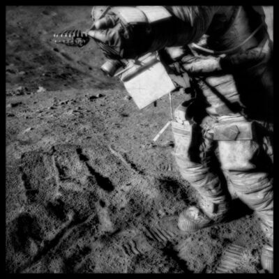 Michael Light, '076 David Scott Manipulates Collection Tongs at Spur Crater; Photographed by James Irwin, Apollo 15, July 26-August 7, 1971', 1999