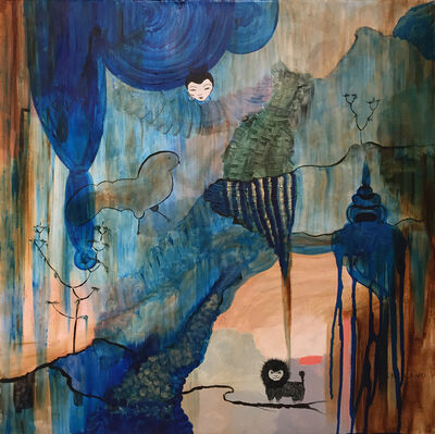 Saya Moriyasu, 'Lion, Peacock, Lady Landscape', 2014