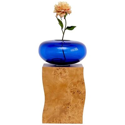 Ettore Sottsass, 'Ettore Sottsass Q Limited Edition Vase in Wood and Murano Glass for Flowers', 1995