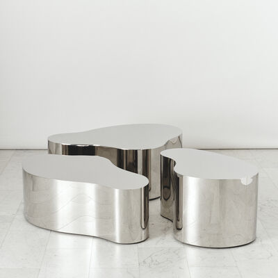 Karl Spring LTD, 'Stainless Steel Free Form Low Table, USA', 2019