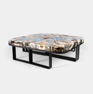 Reinaldo Sanguino, 'Coffee Table with Metal Frame', 2019