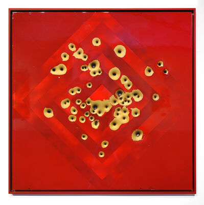 Nick Hunt, 'Is This Not a Target? (Red on Gold)', 2019