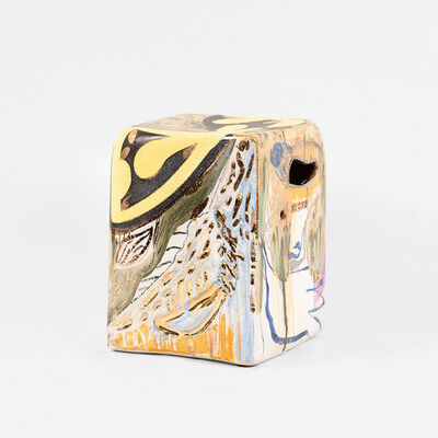 Reinaldo Sanguino, 'Metallic Square Stool 6', 2018