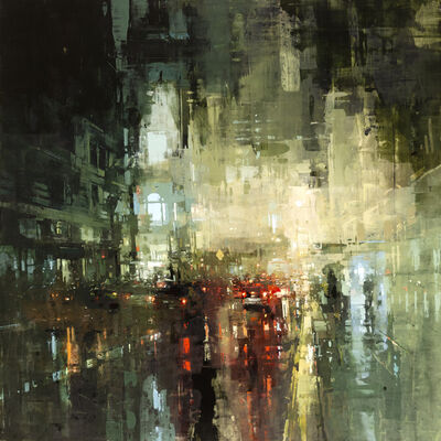 "Jeremy Mann, '""The Downtown Torrent""', 2018"