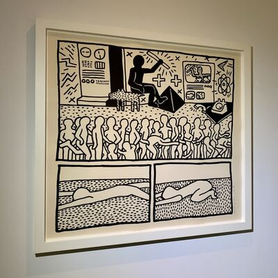 Keith Haring, 'Untitled (The Blueprint Drawings - No.15)', 1990