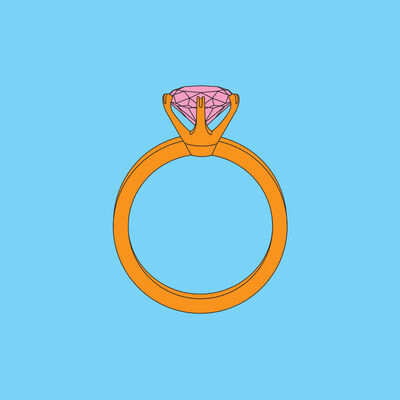 Michael Craig-Martin, 'Objects of Our Time: Diamond Ring', 2014