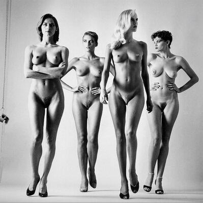 Helmut Newton, 'Sie Kommen, Paris 1981 Naked', 1981