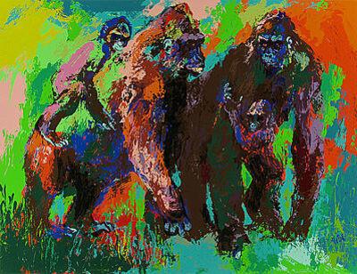LeRoy Neiman, 'Gorilla Family', 1980