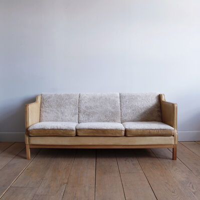 Unknown Artist, 'DANISH LEATHER AND SHEARLING THREE-SEAT SOFA', ca. 1970