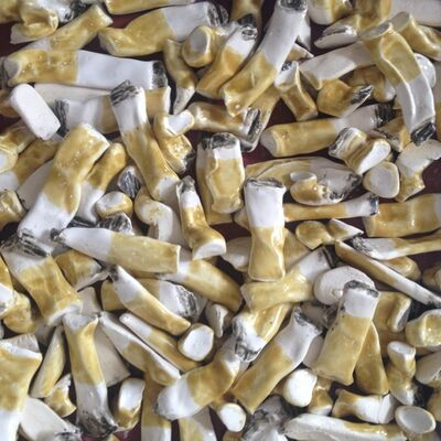 Rose Eken, '10 X Cigarettes Butts', 2014