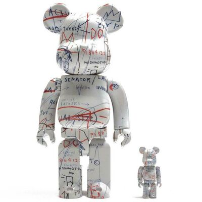 Jean-Michel Basquiat, '400% and 100% Bearbrick', ca. 2018