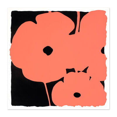 Donald Sultan, 'Coral Poppies', 2011