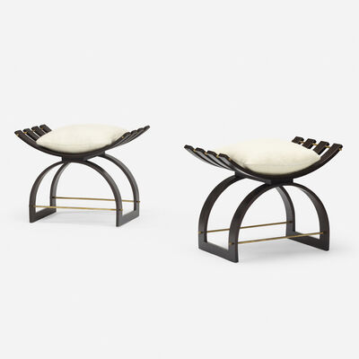 Harvey Probber, 'Knights benches model 1173, pair', c. 1955