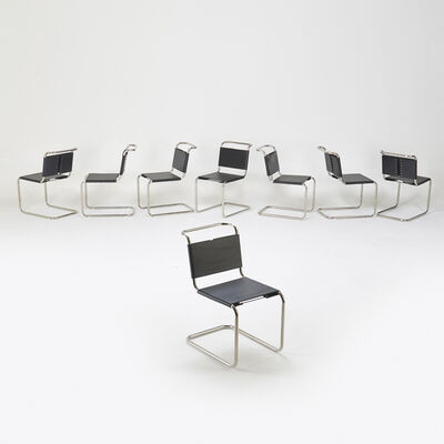 Ludwig Mies van der Rohe, 'Eight side chairs', 2000s