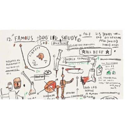 Jean-Michel Basquiat, 'Dog Leg Study', 1982-1983