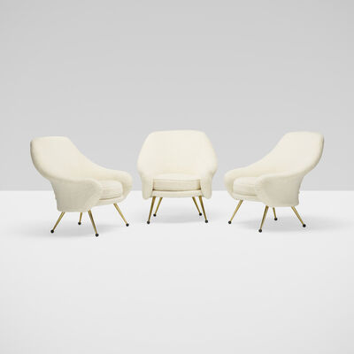 Marco Zanuso, 'Martingala chairs, set of three', c. 1954