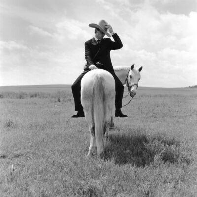 Rodney Smith, 'Greg on Horse Backwards, Alberta, Canada', 2004