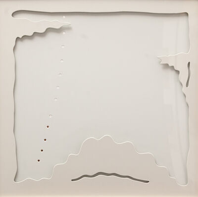 Lucio Fontana, 'Concetto Spaziale, teatrino bianco', 1968