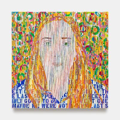 Ghada Amer, 'Portrait of Charlotte', 2020