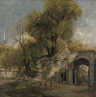 John Constable, 'Harnham Gate, Salisbury', between 1820 and 1821