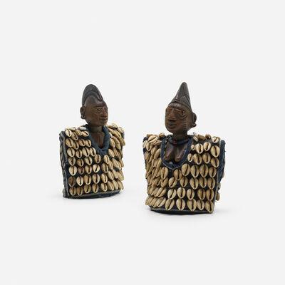 Yoruba artist, 'Ibeji figures with vestments, pair', 20th Century
