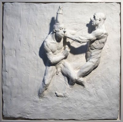 Beth Carter, 'Fighting Clowns III (relief)', 2019