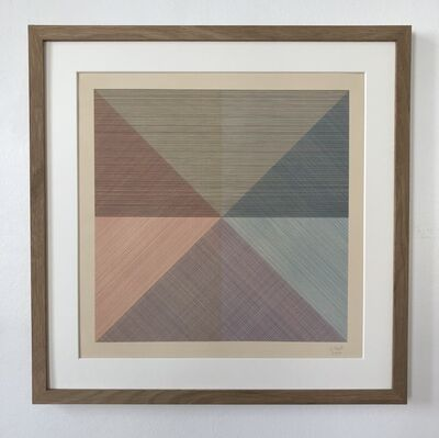 Sol LeWitt, 'Eight Squares with a Different Color in Each Half Square (Divided Horizontally and Vertically), plate #1', 1980
