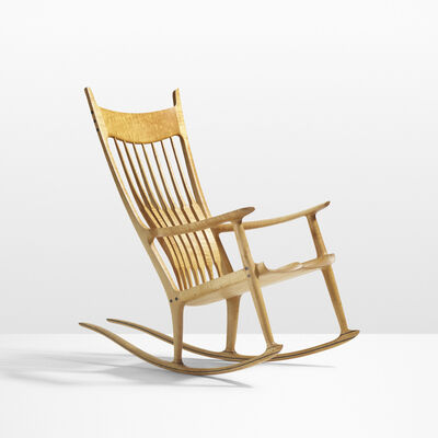 Sam Maloof, 'Exceptional rocking chair', 1990